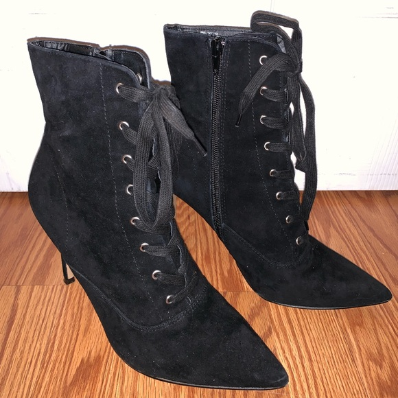 3dc6a372ede Steve Madden black suede booties